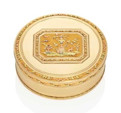 A SWISS VARI-COLOUR GOLD BONBO