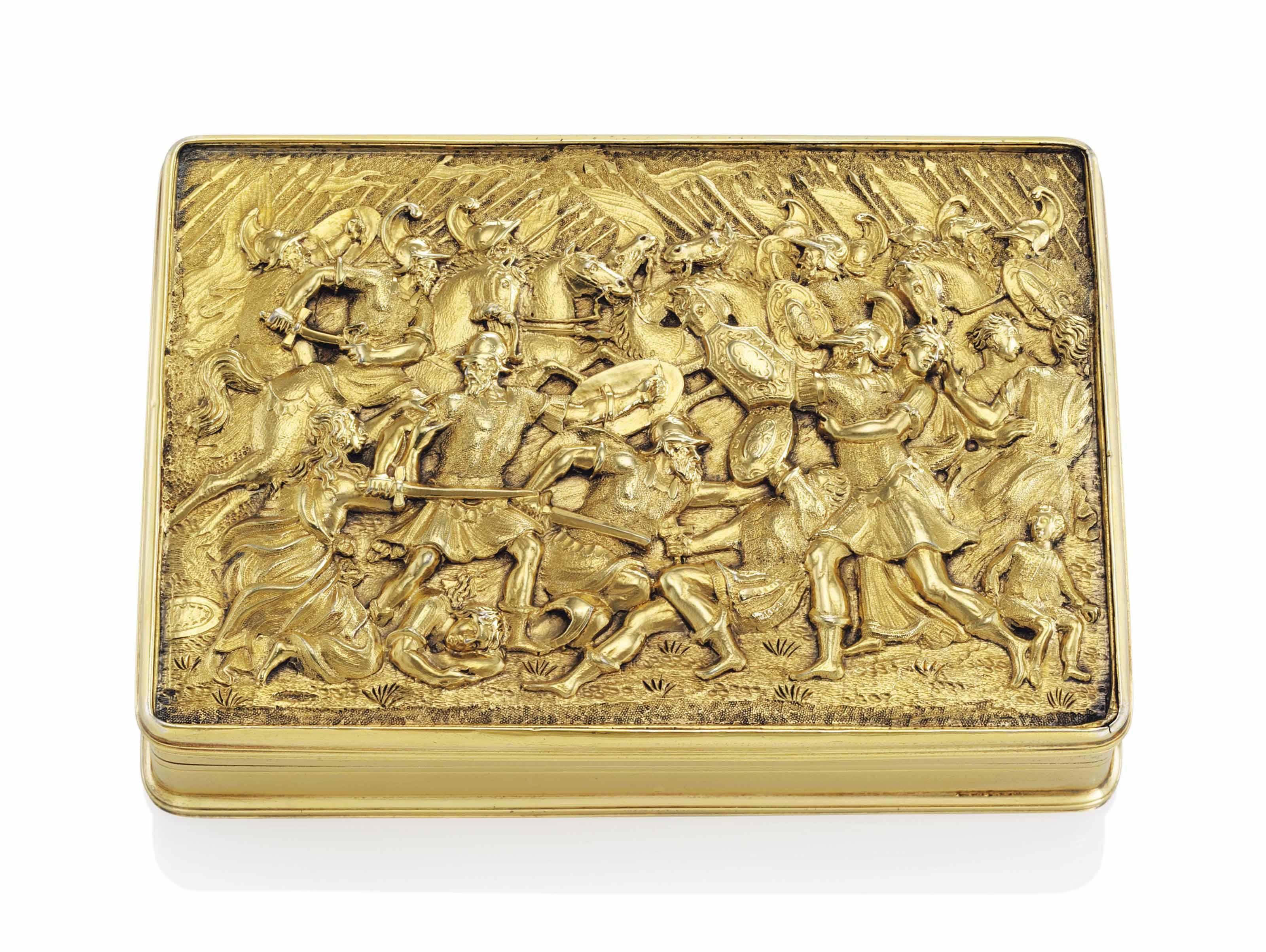 A GEORGE IV SILVER-GILT PRESENTATION SNUFF-BOX