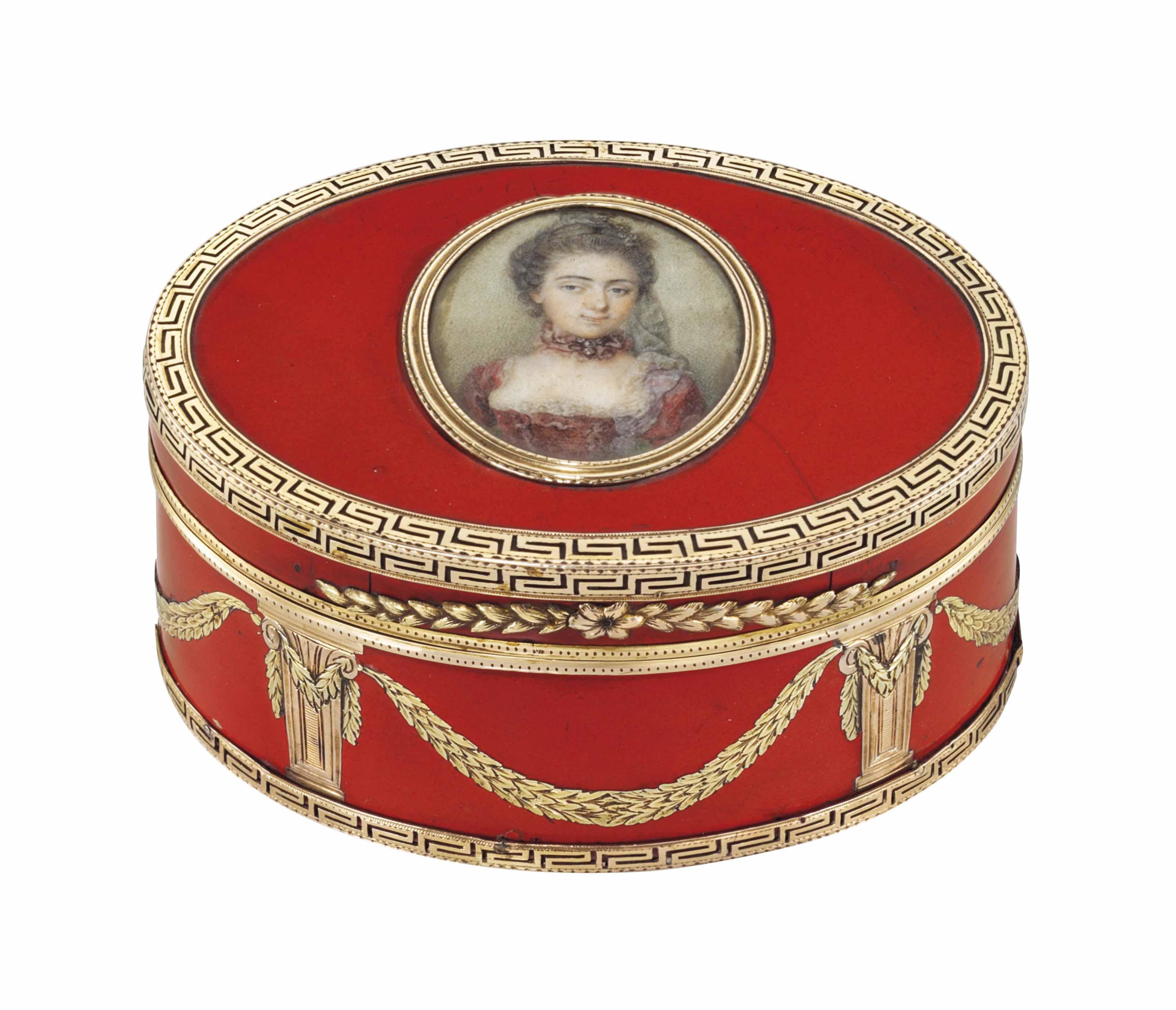 A LOUIS XV VARI-COLOUR GOLD-MO