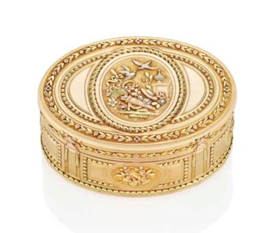 A LOUIS XVI VARI COLOURED GOLD