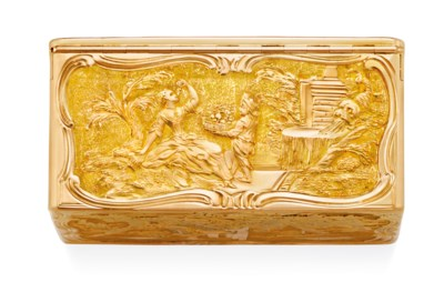 AN IMPORTANT LOUIS XV GOLD SNU