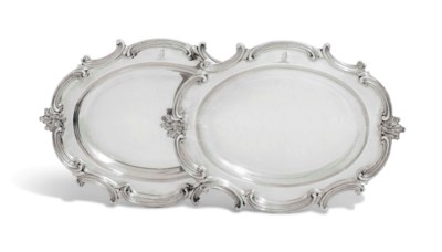A PAIR OF VICTORIAN SILVER MEA