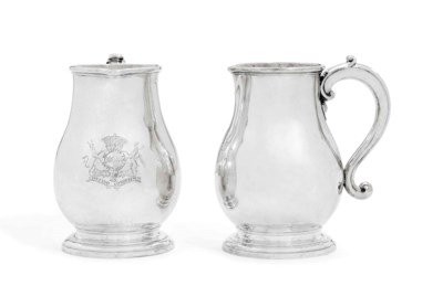 A PAIR OF GEORGE I SILVER BEER