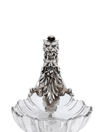 A FRENCH SILVER AND CUT-GLASS