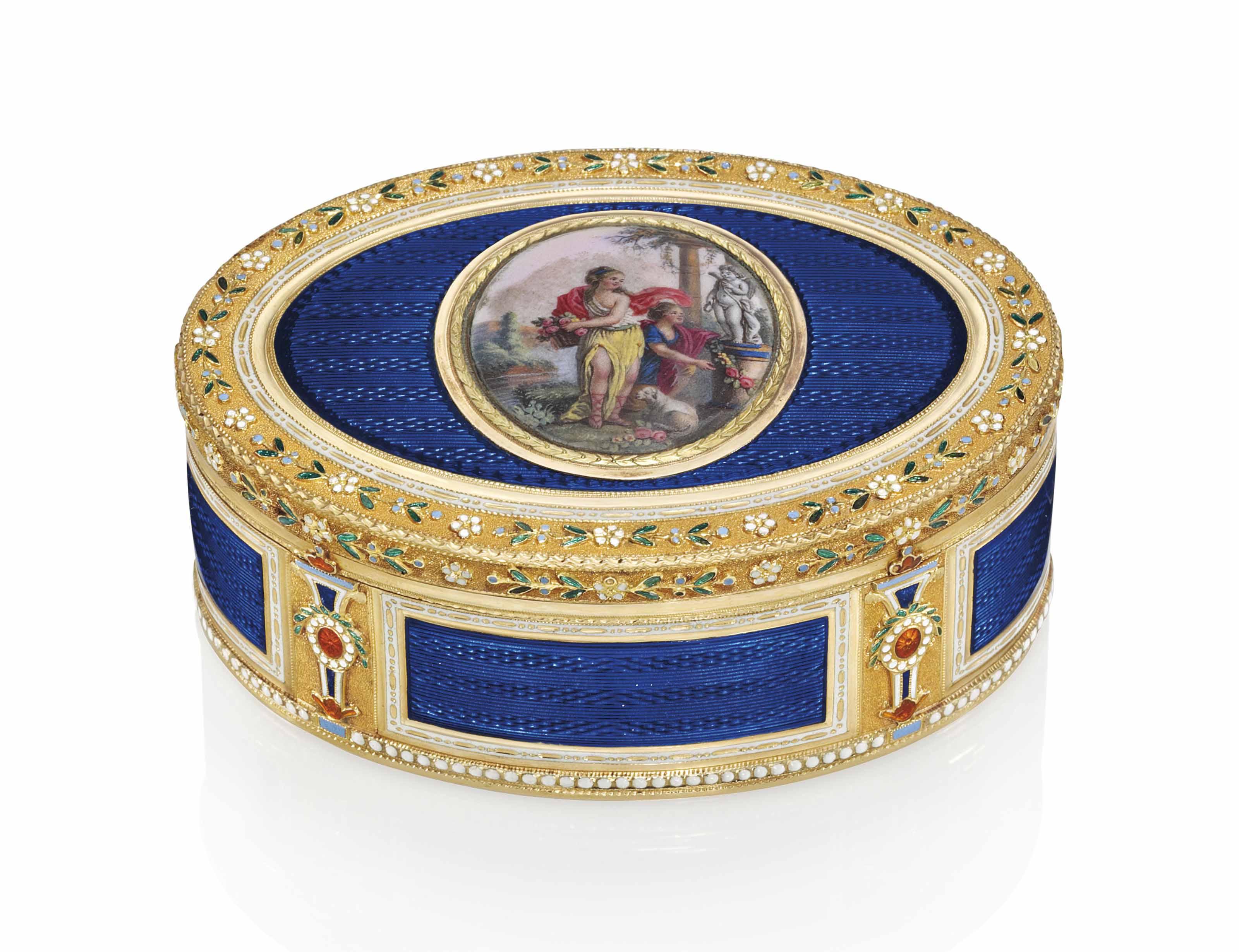 a german enamelled gold snuff box probably hanau circa 1780 christie 39 s. Black Bedroom Furniture Sets. Home Design Ideas