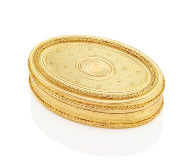 A LOUIS XVI GOLD SNUFF-BOX