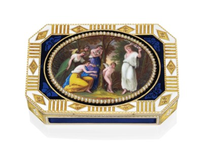 A SWISS JEWELLED AND ENAMELLED