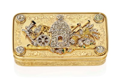 A FRENCH JEWELLED GOLD PRESENT