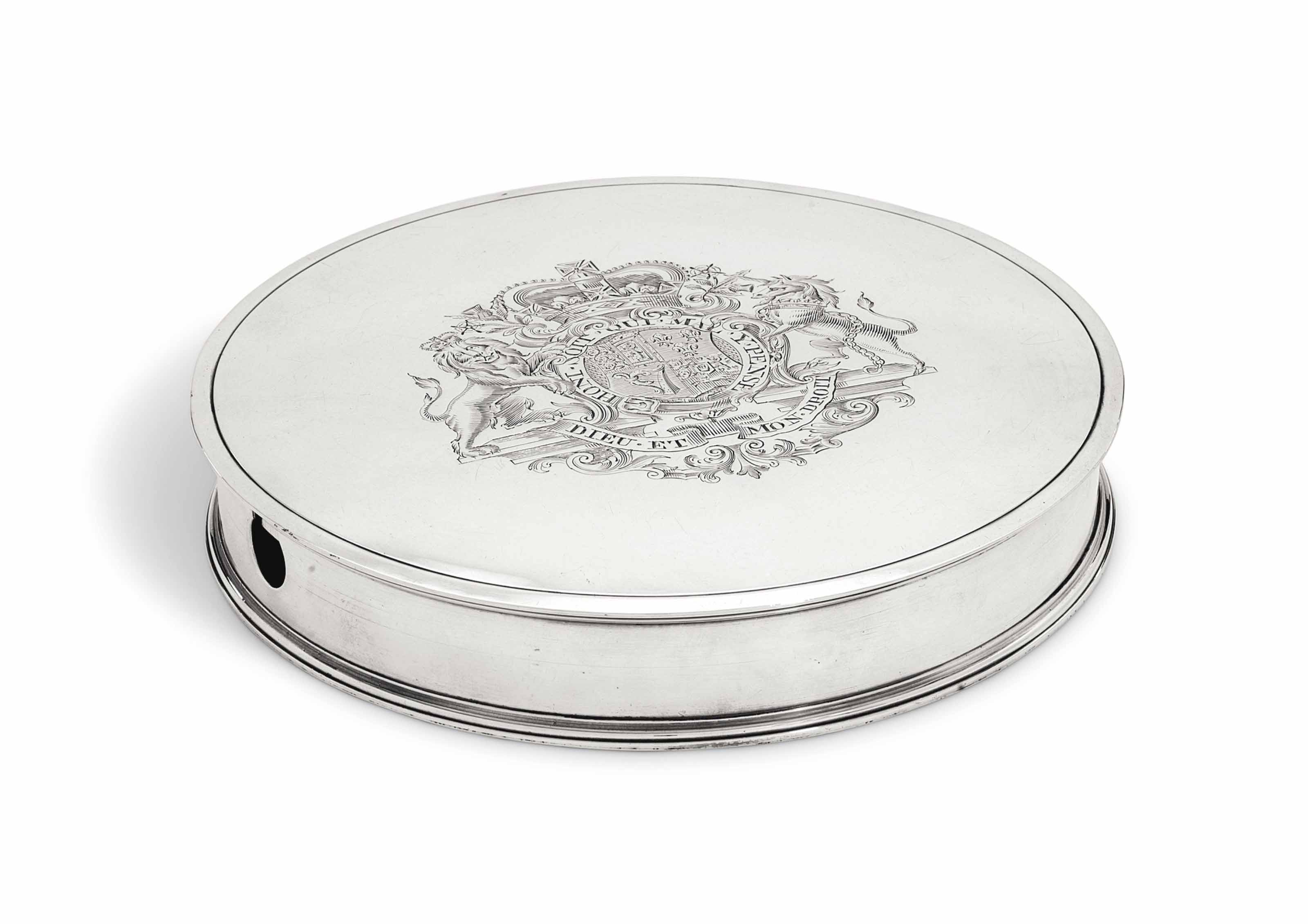 A GEORGE III SILVER SEAL-BOX
