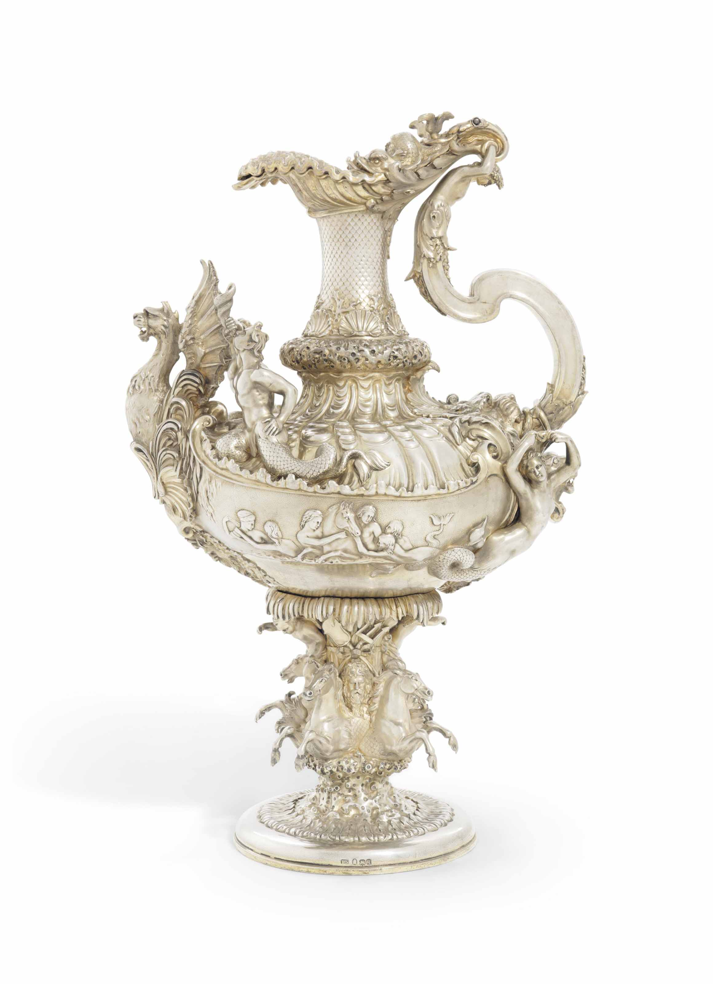 A WILLIAM IV SILVER-GILT EWER FROM THE EGYPTIAN ROYAL COLLECTION