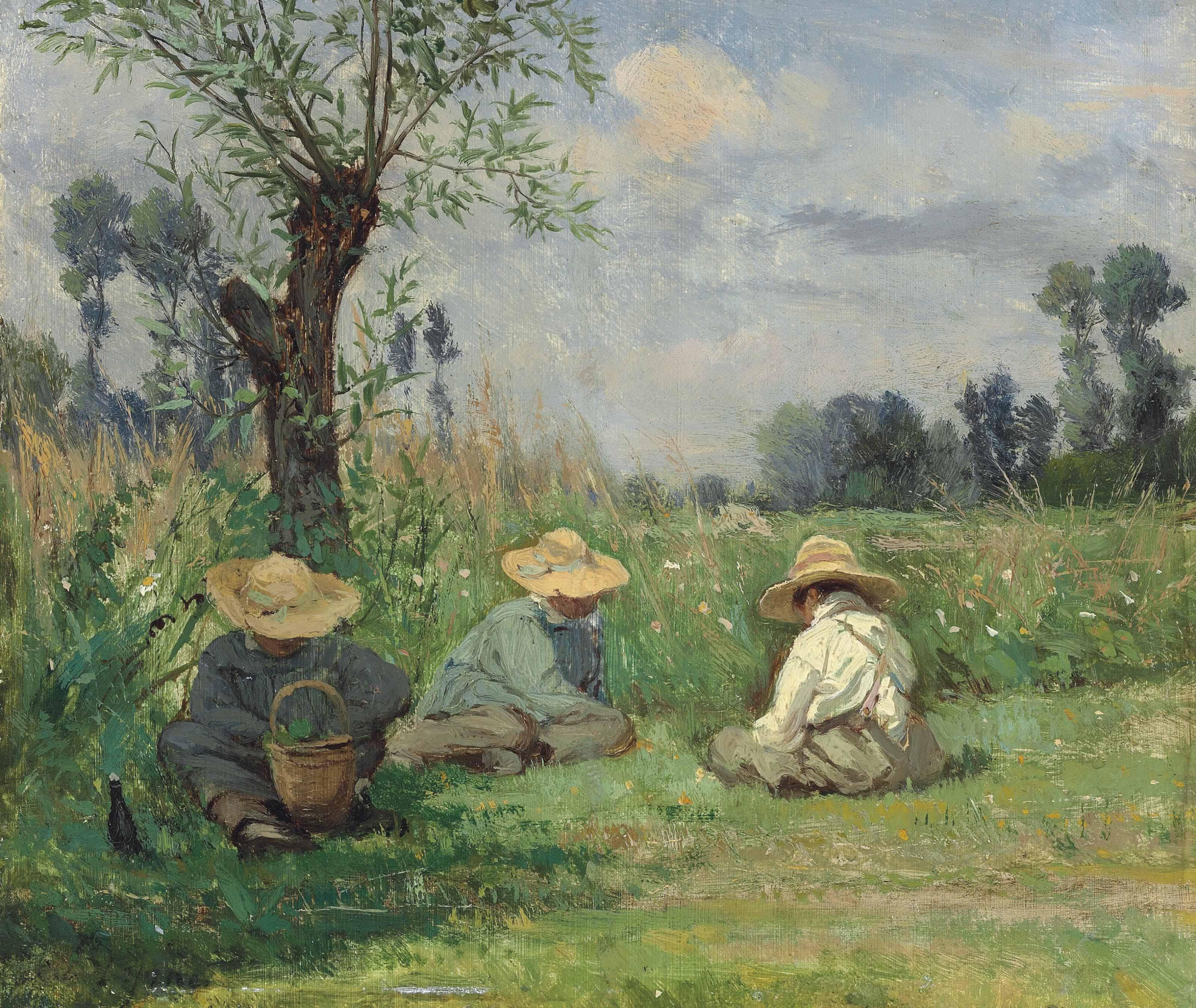 Paysage aux environs de Caen