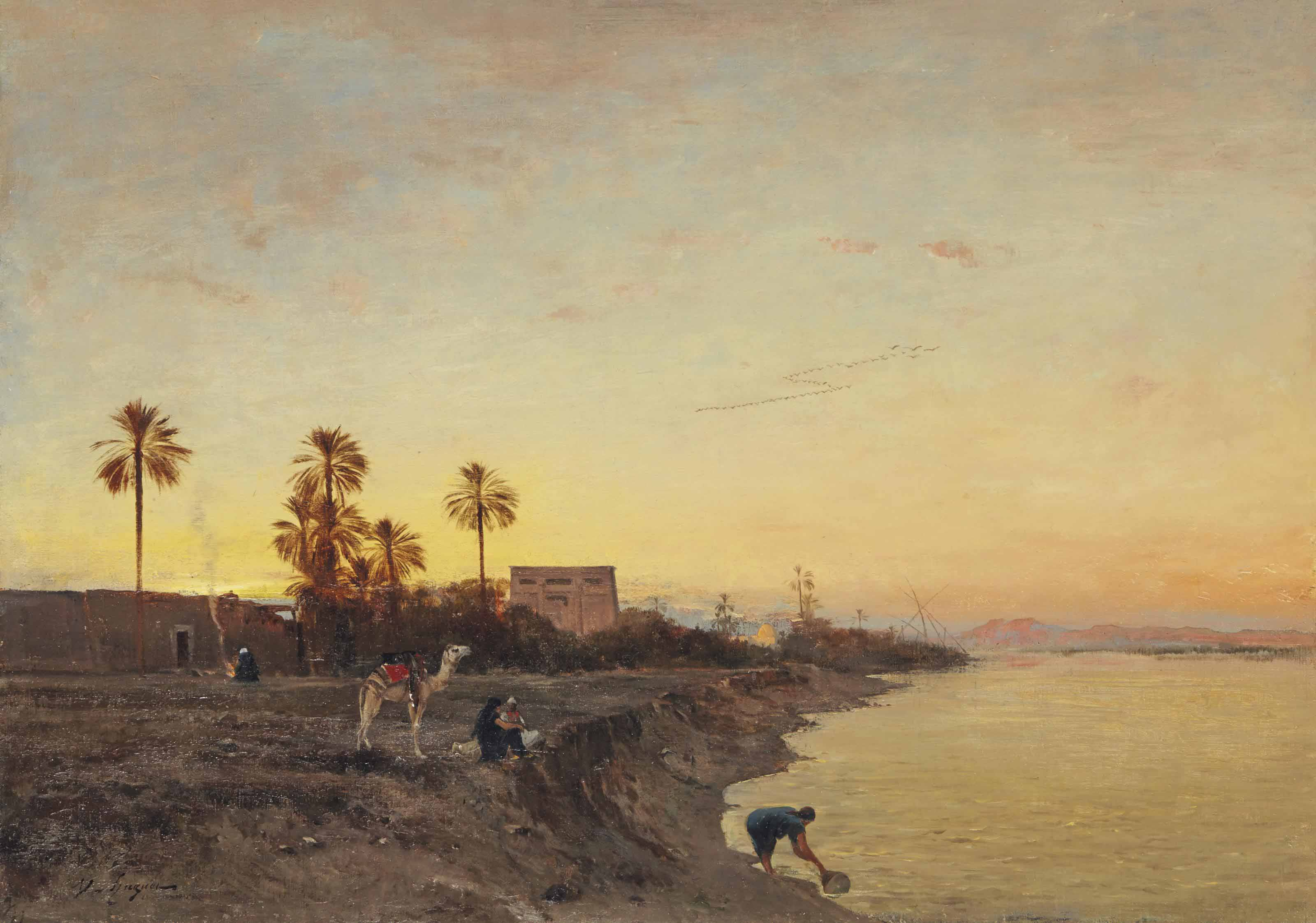 On the banks of the Nile, Egypt
