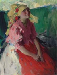 Young peasant woman