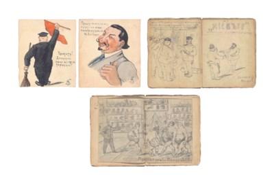 An album of satirical cartoons