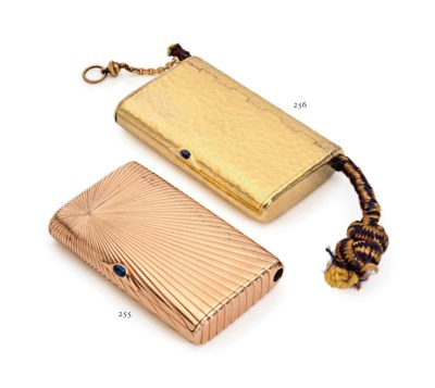 A JEWELLED GOLD CIGARETTE CASE