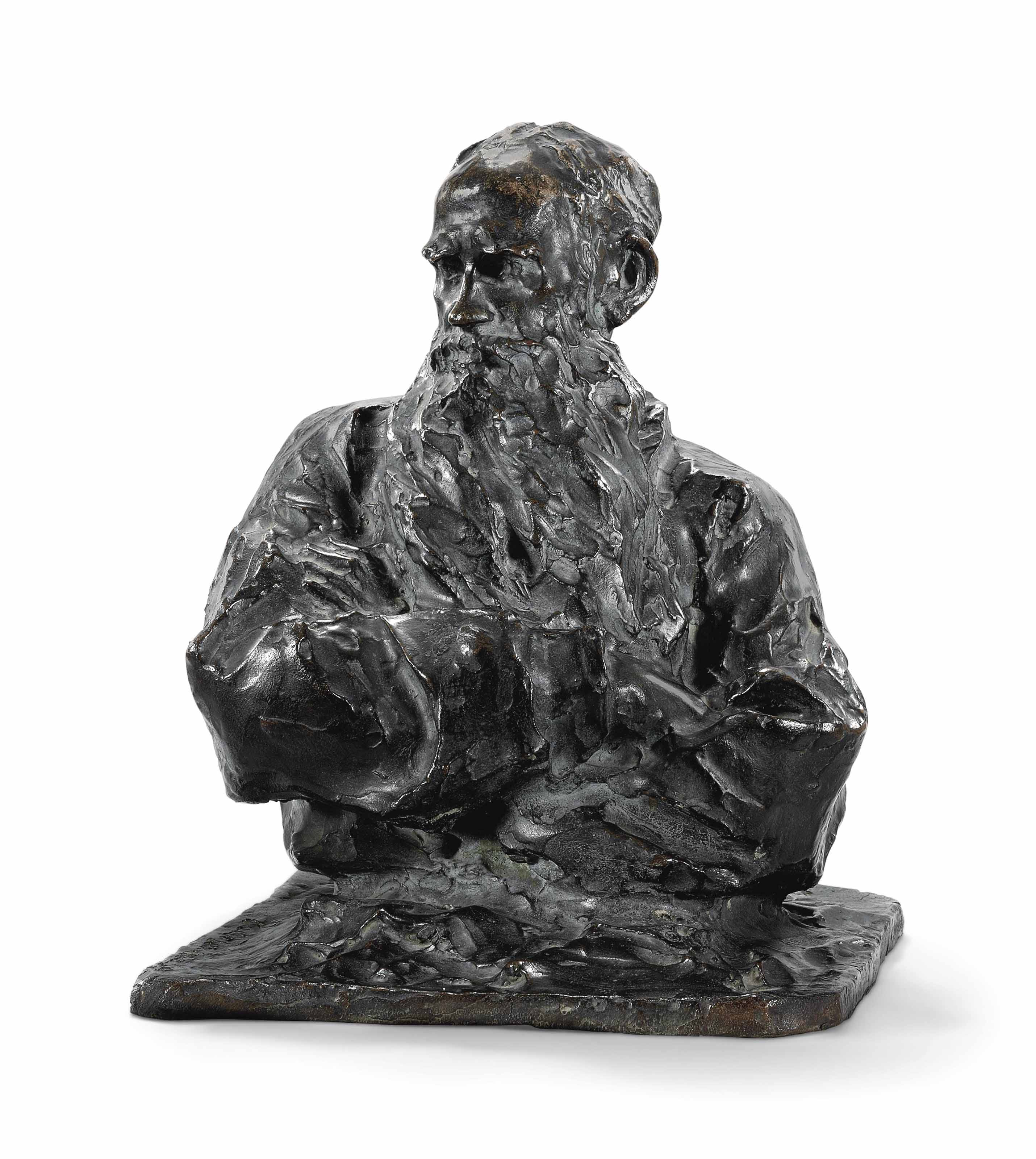 BUST OF COUNT LEV TOLSTOY (1828-1910)