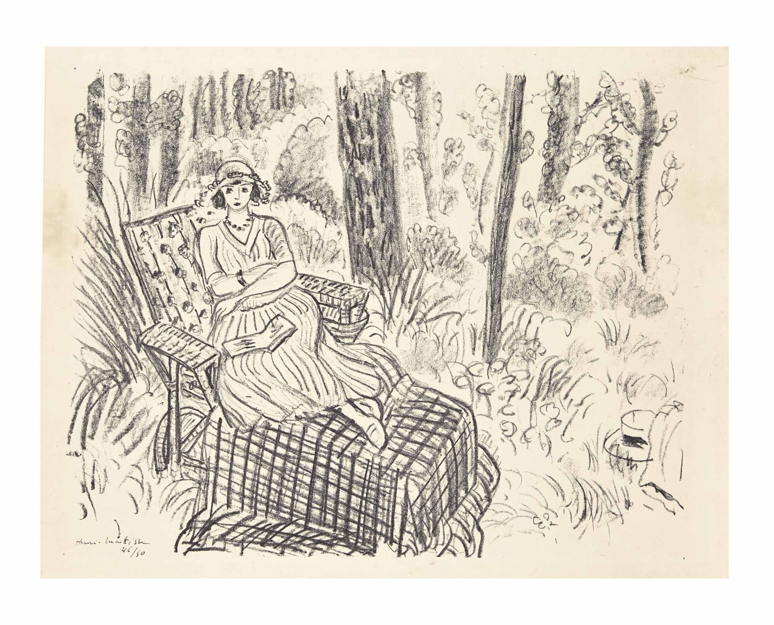 henri matisse jeune fille la chaise longue dans un sous bois christie 39 s. Black Bedroom Furniture Sets. Home Design Ideas
