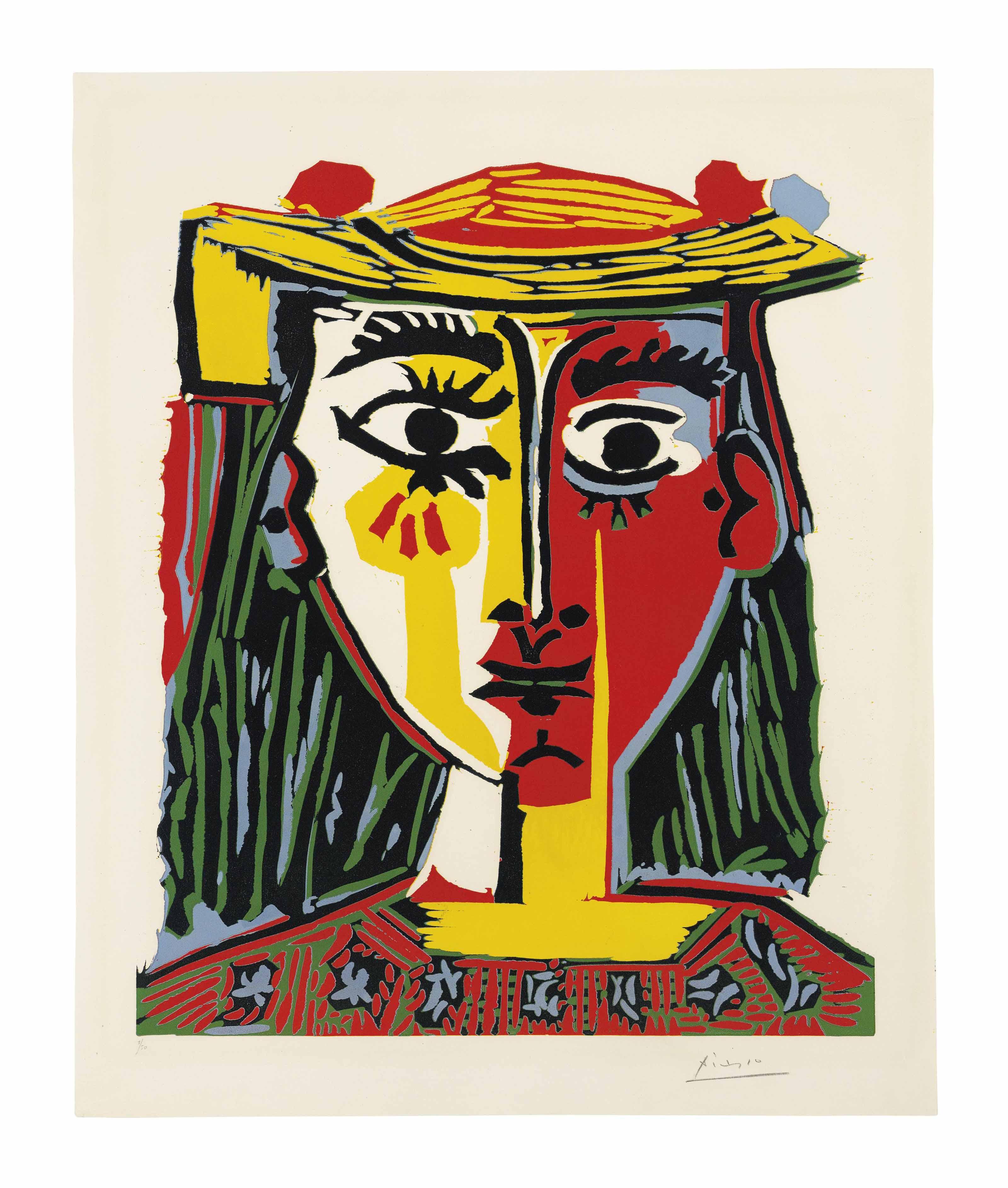 Pablo Picasso | Buste de Femme au Chapeau | Prints & Multiples ...