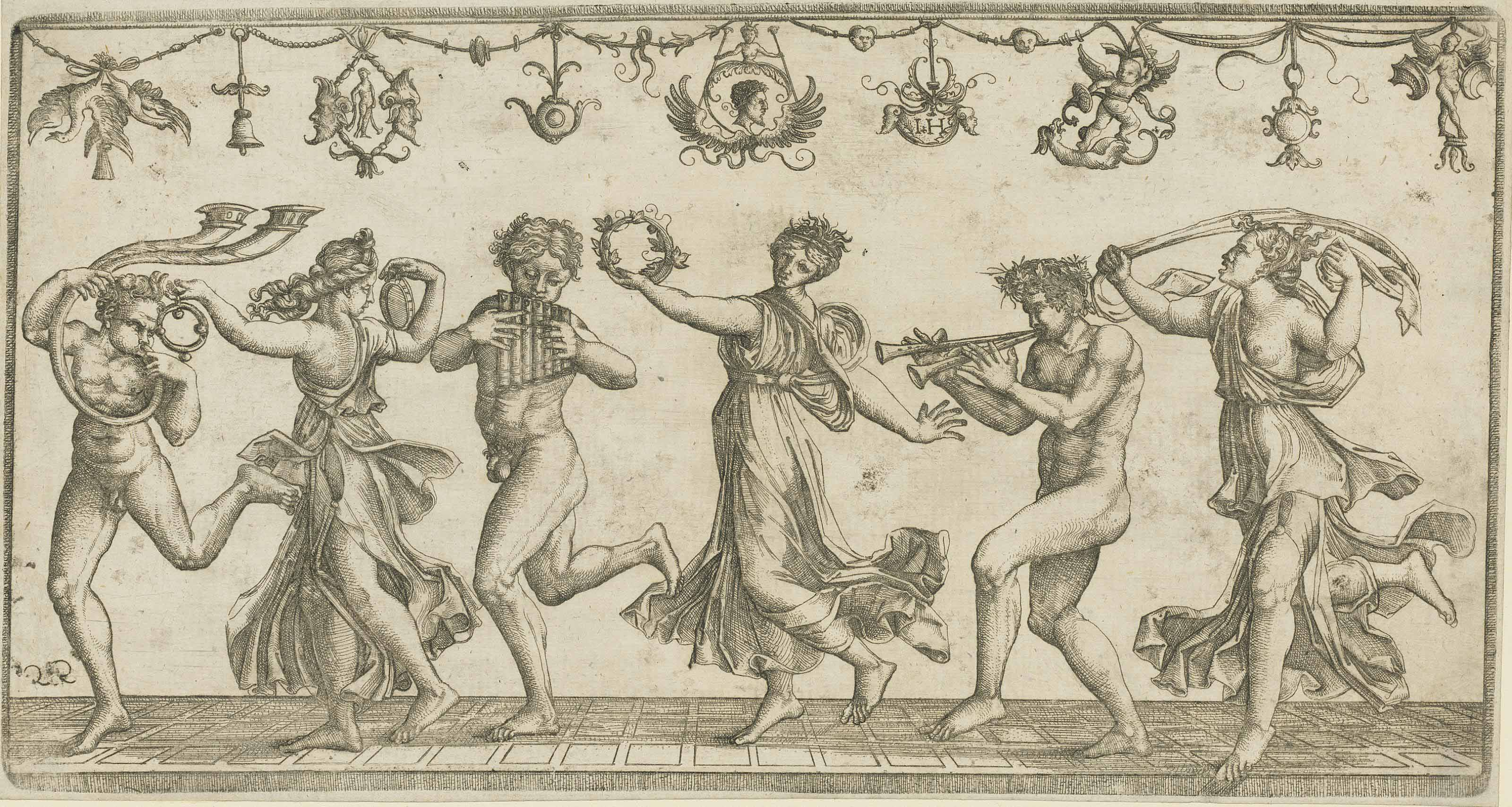 Hieronymus Hopfer (circa 1500-1563) after Agostino Veneziano (1490-1540)
