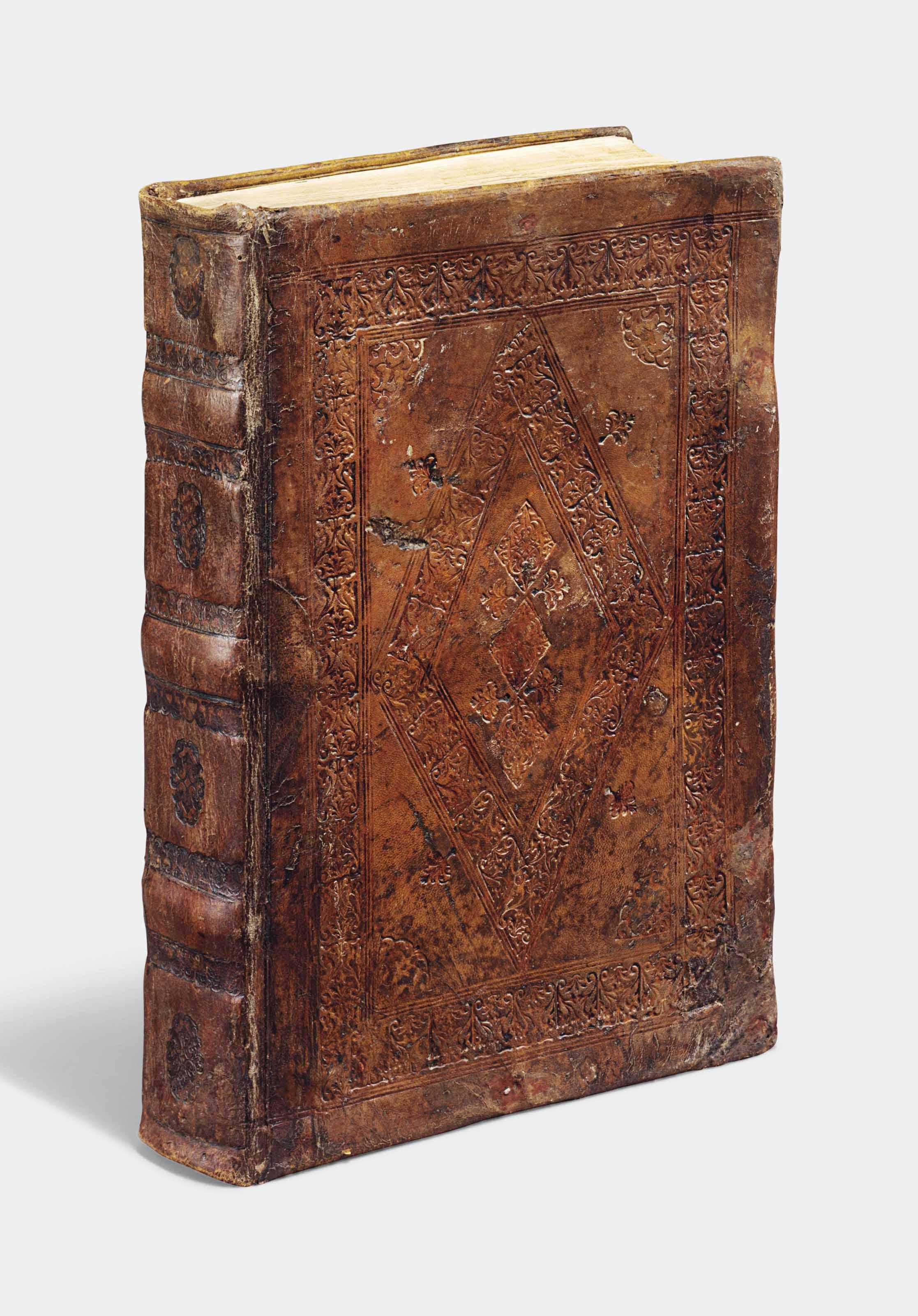 ARISTOTLE (384-322 B.C.). De natura animalium. –De partibus animalium, and other texts. Translated by Theodorus Gaza (c.1400-1475). Venice: Aldus Manutius, February 1513.