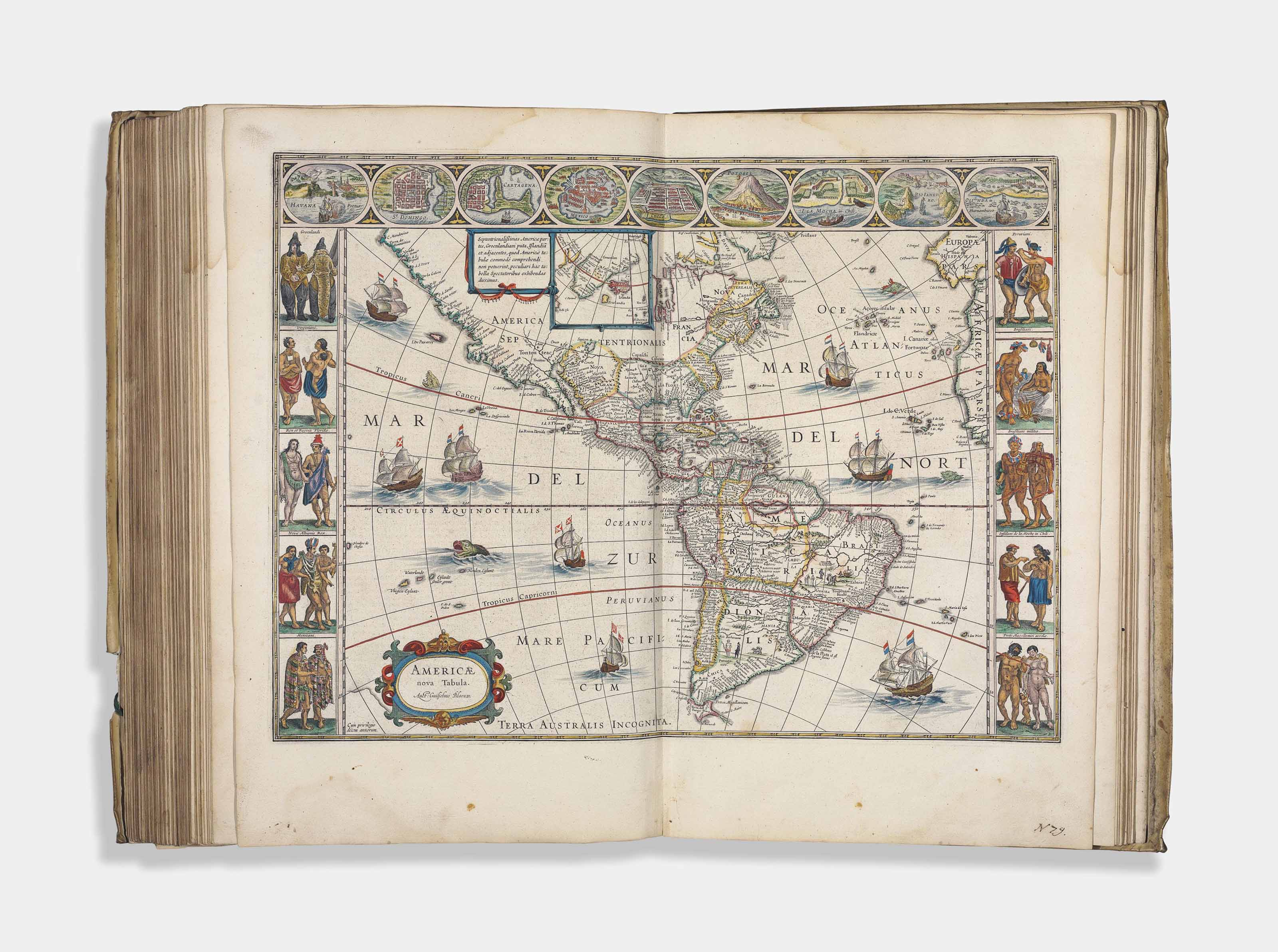 BLAEU, Willem (1571-1638) and Johan BLAEU (1596-1673). Novus Atlas, Das ist, Welt-beschreibung, Mit schönen newen außführlichen Land-Taffeln in Kupffer gestochen... Ander Theil. [Volume II. France, Spain and the Continents]. Amsterdam: Johann Blaeu, 1647.