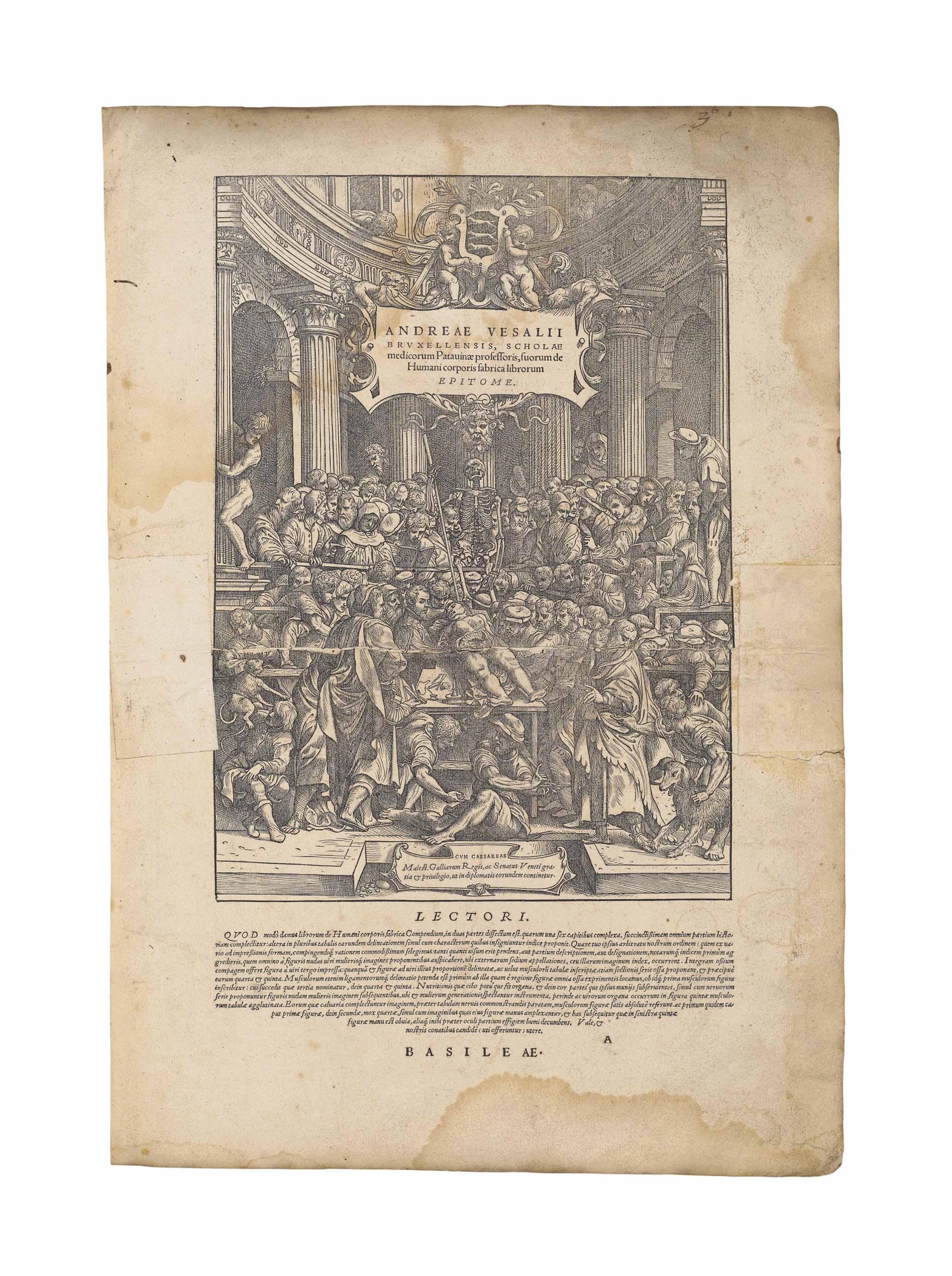 VESALIUS, Andreas (1514-64). D