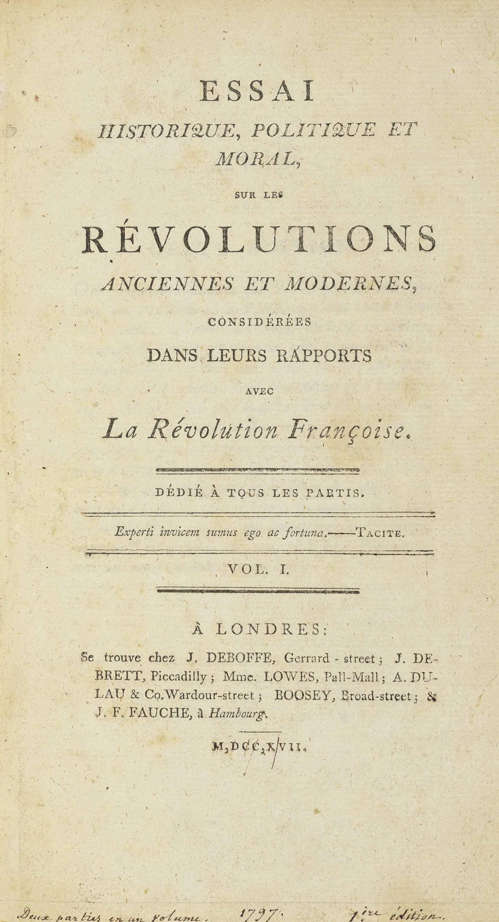 [CHATEAUBRIAND, François-René