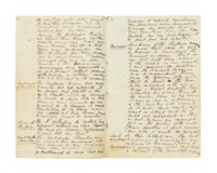 [NAPOLEON I (1769-1821), Emperor of the French] – Hugh, 2nd Earl FORTESCUE (1783-1861), as Viscount Ebrington. Autograph manuscript, 'Memorandum of two Conversations with the Emperor Napoleon at Porto Ferraio on the 6th & 7th of December 1814'.