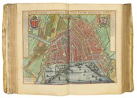 BLAEU, Joan (1596-1673). Novum ac Magnum Theatrum Urbium Belgicae Foederate [-- Regiae]. Amsterdam: Johannes Blaeu [1649].