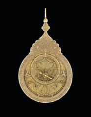 A FINE SAFAVID BRASS ASTROLABE