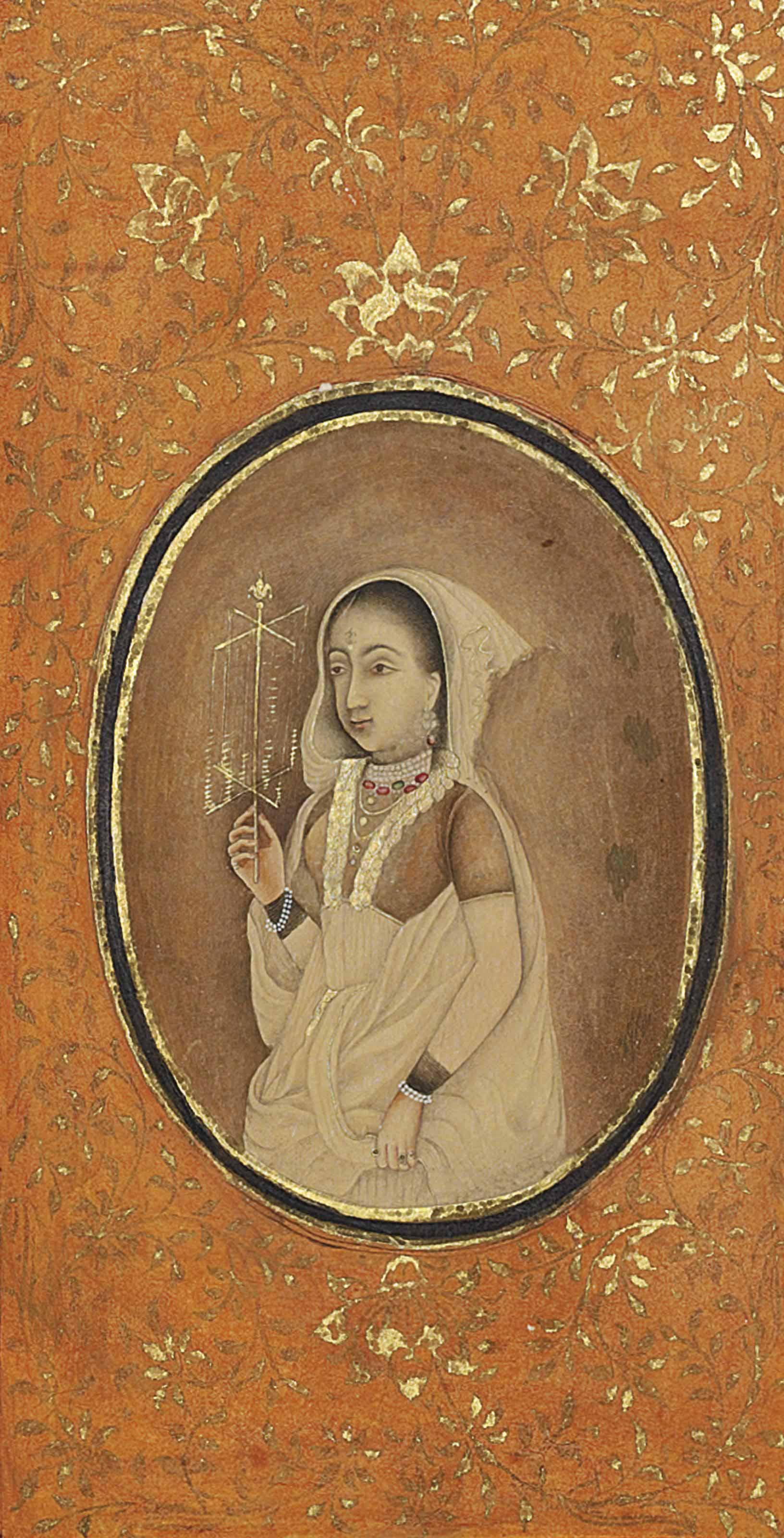 A HINDU LADY IN EUROPEAN-INSPIRED DRESS