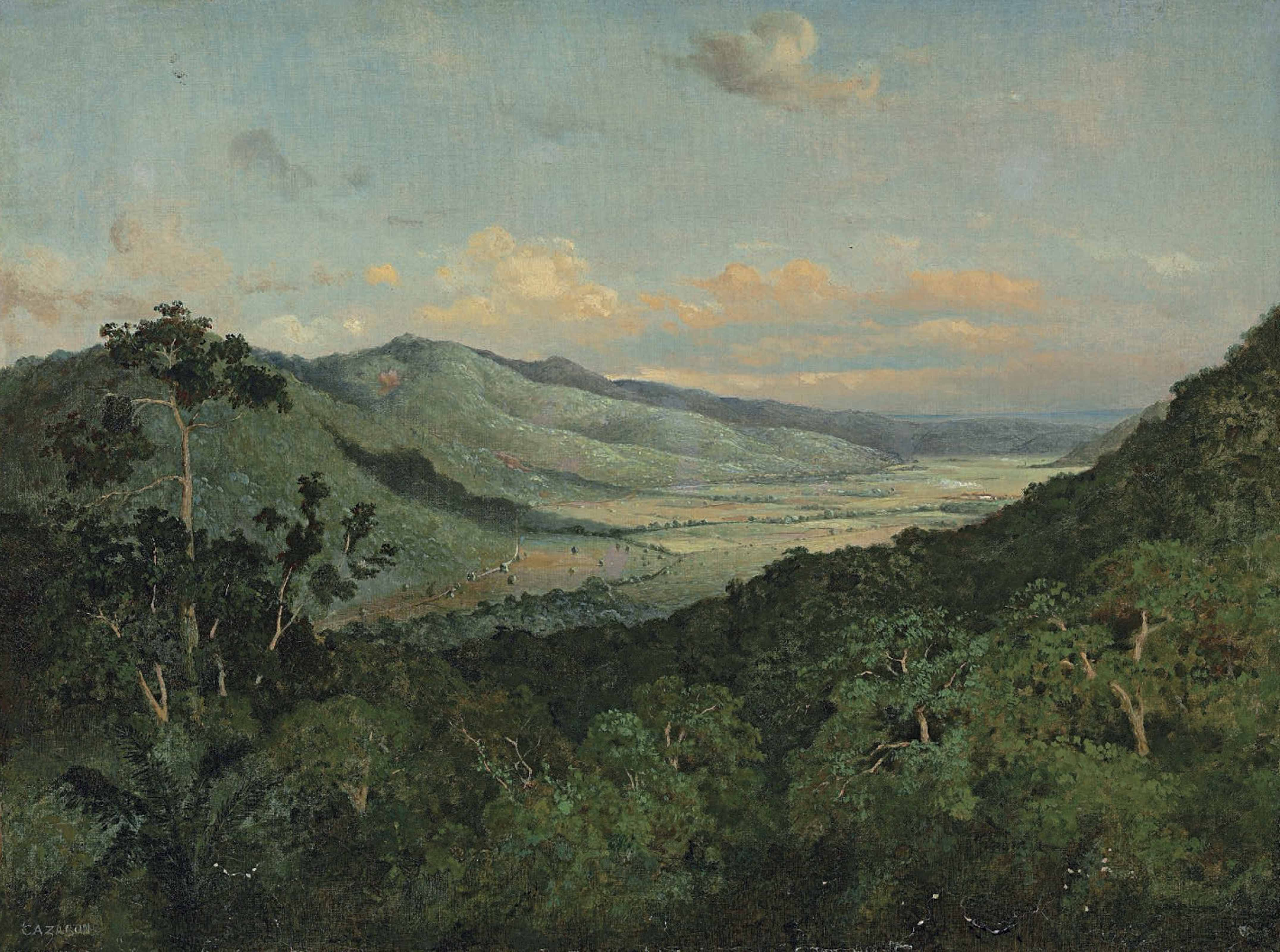 Sunlit Valley (Diego Martin Valley from Fort George), Trinidad