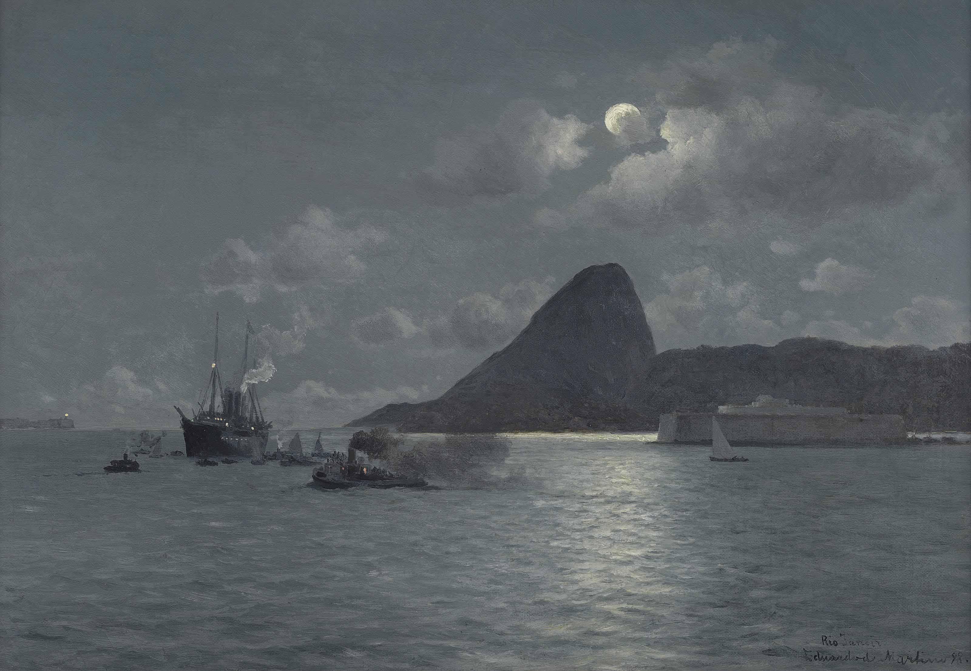 Rio de Janeiro by moonlight