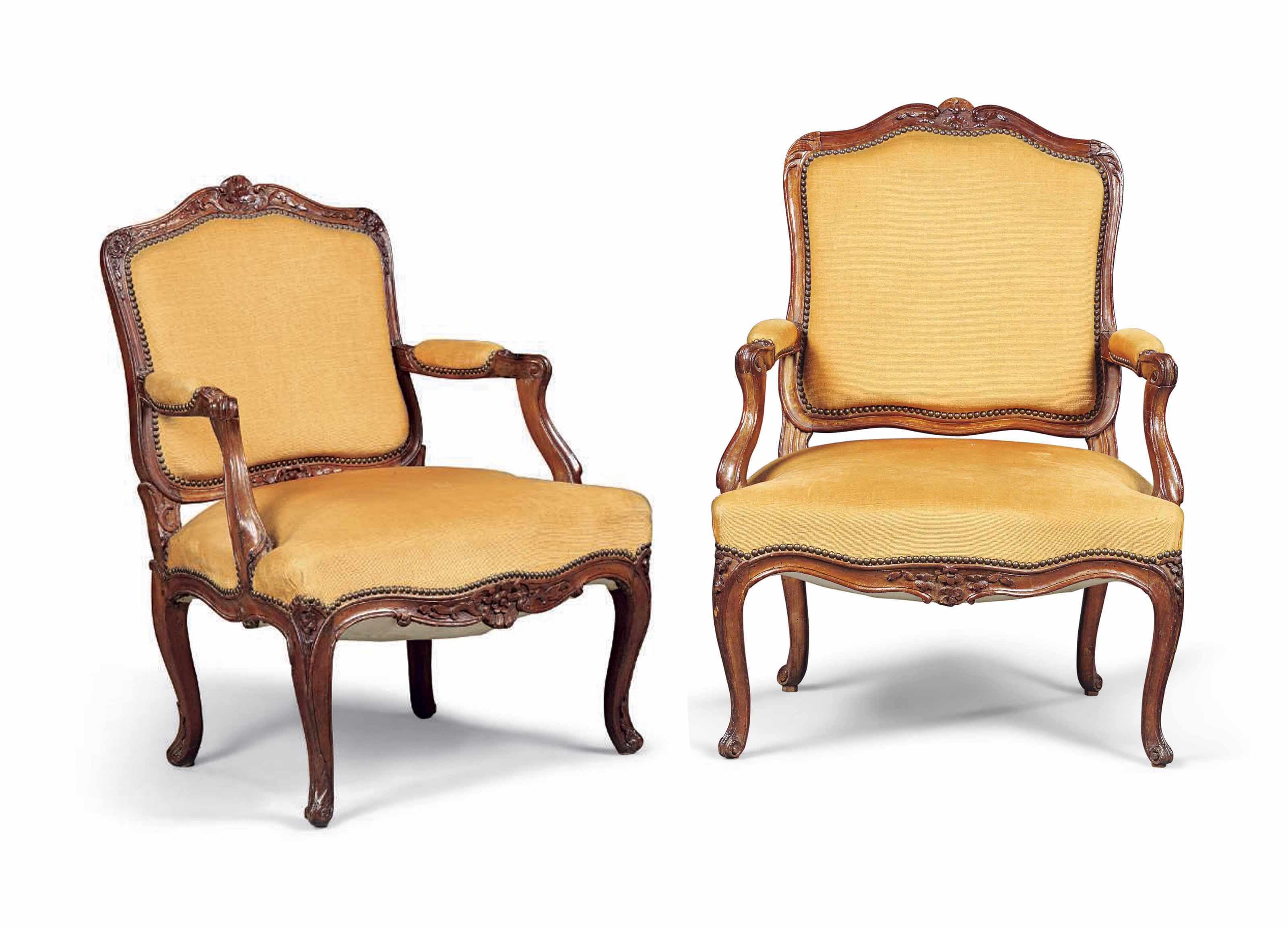 A NEAR PAIR OF LOUIS XV BEECH