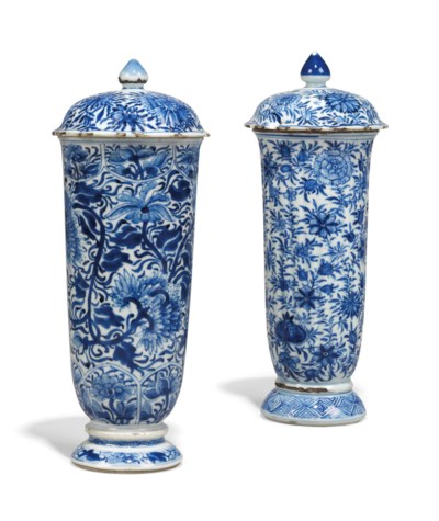 TWO CHINESE BLUE AND WHITE DEE