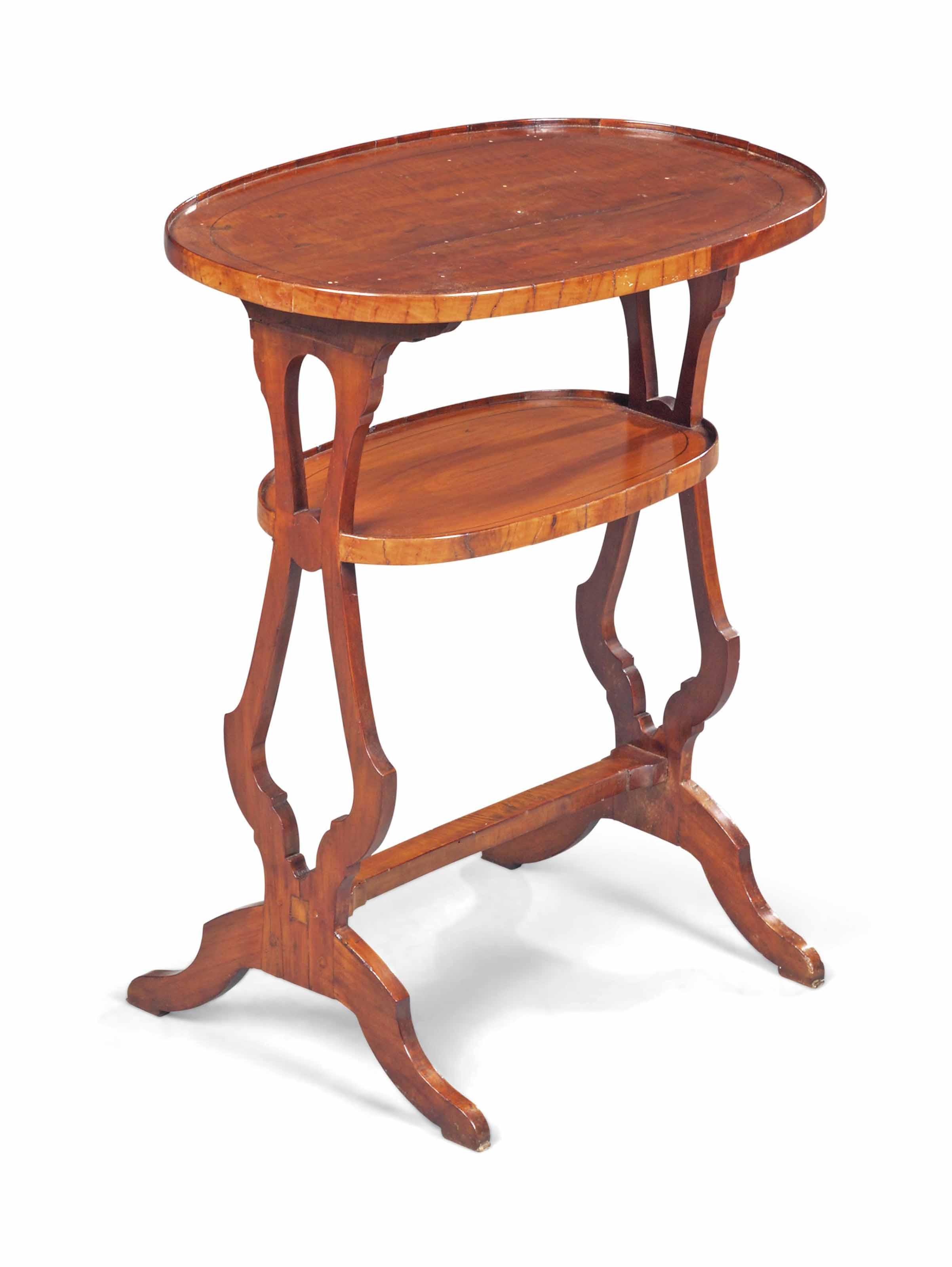 A FRUITWOOD OCCASIONAL TABLE