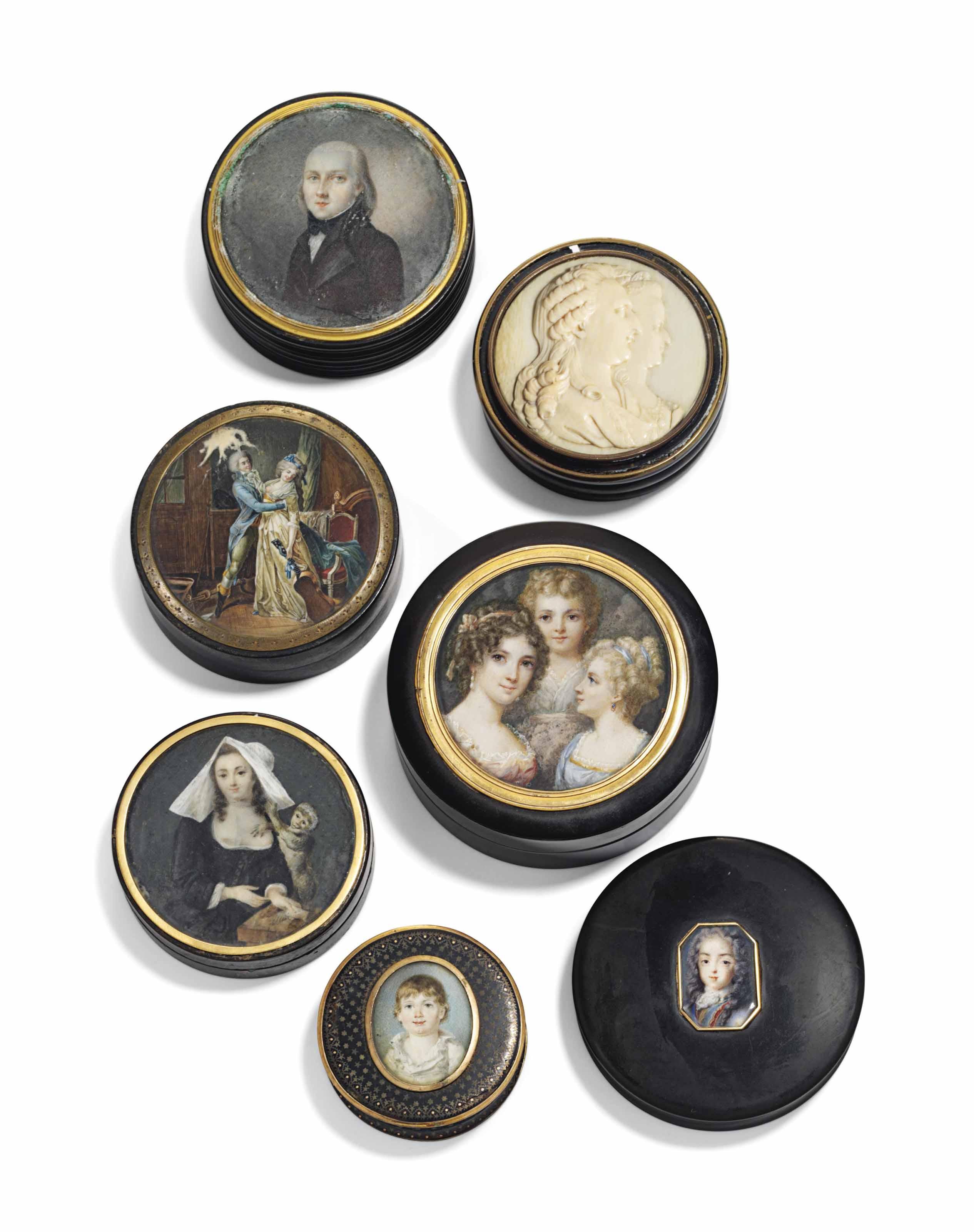A GROUP OF SEVEN TORTOISESHELL