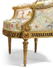 A ROYAL LOUIS XVI GILTWOOD FAU