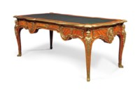 A FRENCH ORMOLU-MOUNTED KINGWOOD AND TULIPWOOD BUREAU PLAT