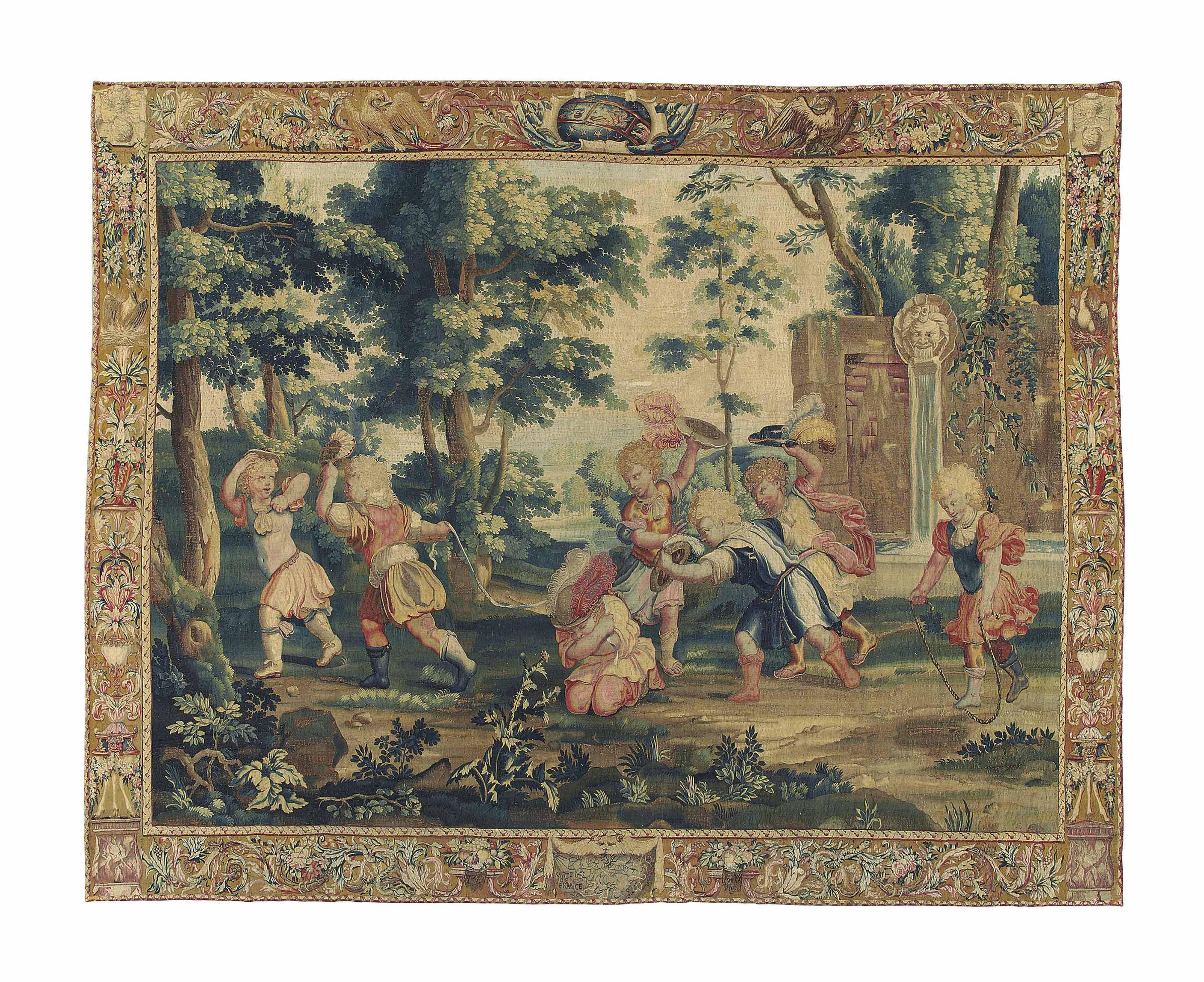 A LOUIS XIV PASTORAL TAPESTRY