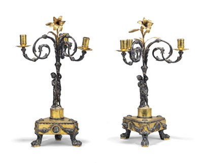 A PAIR OF FLEMISH SILVER AND G