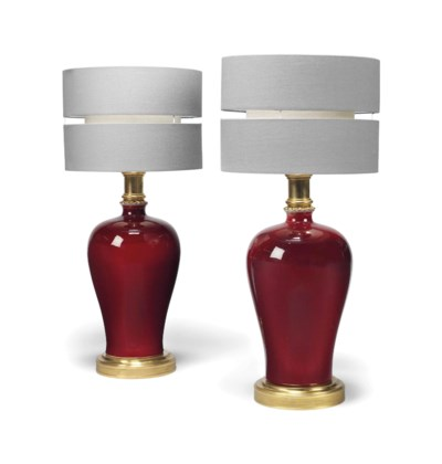 A PAIR OF GILT METAL MOUNTED S