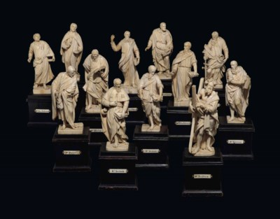 A SET OF IVORY FIGURES DEPICTI