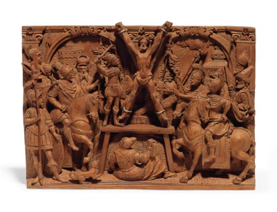 A FRUITWOOD RELIEF OF THE MART