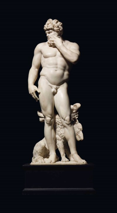 A MARBLE FIGURE OF PLUTO AND C