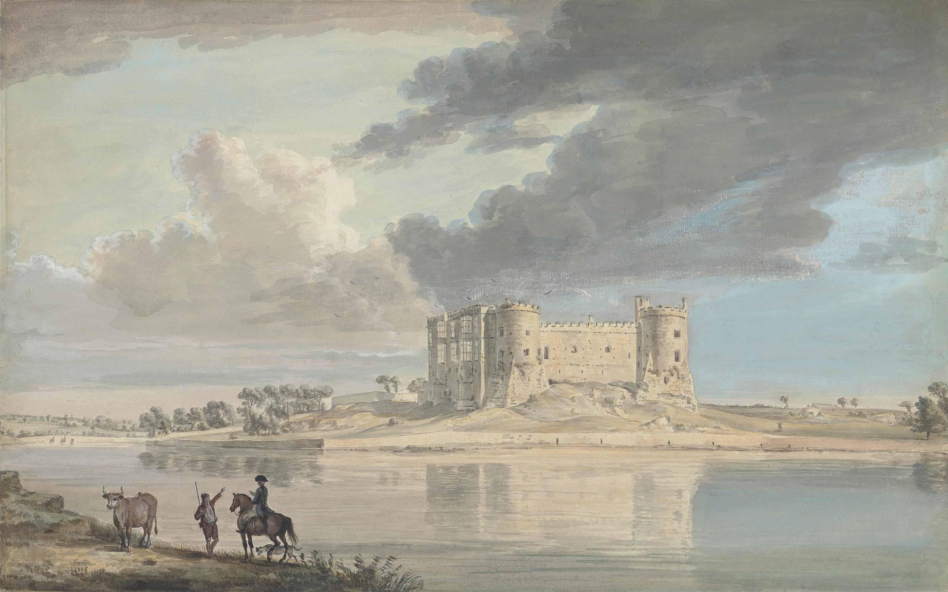 North West view of Carey Castle, Pembrokeshire