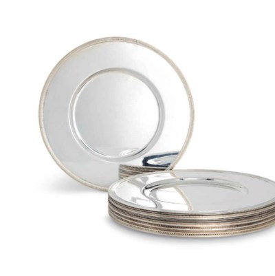 FOURTEEN FRENCH SILVER-PLATED