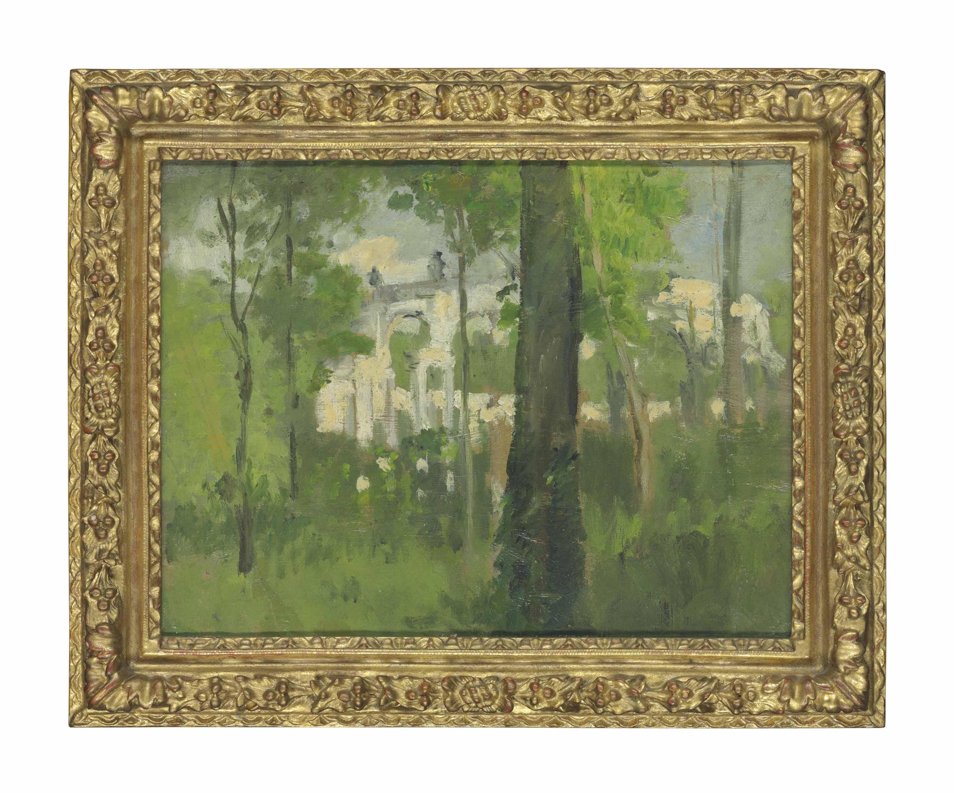 The Petit Trianon, Versailles, seen through trees