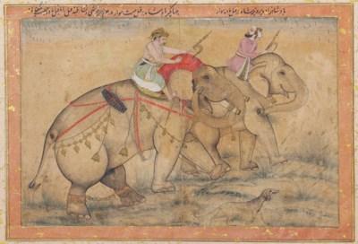 TWO PRINCES ON ELEPHANTS