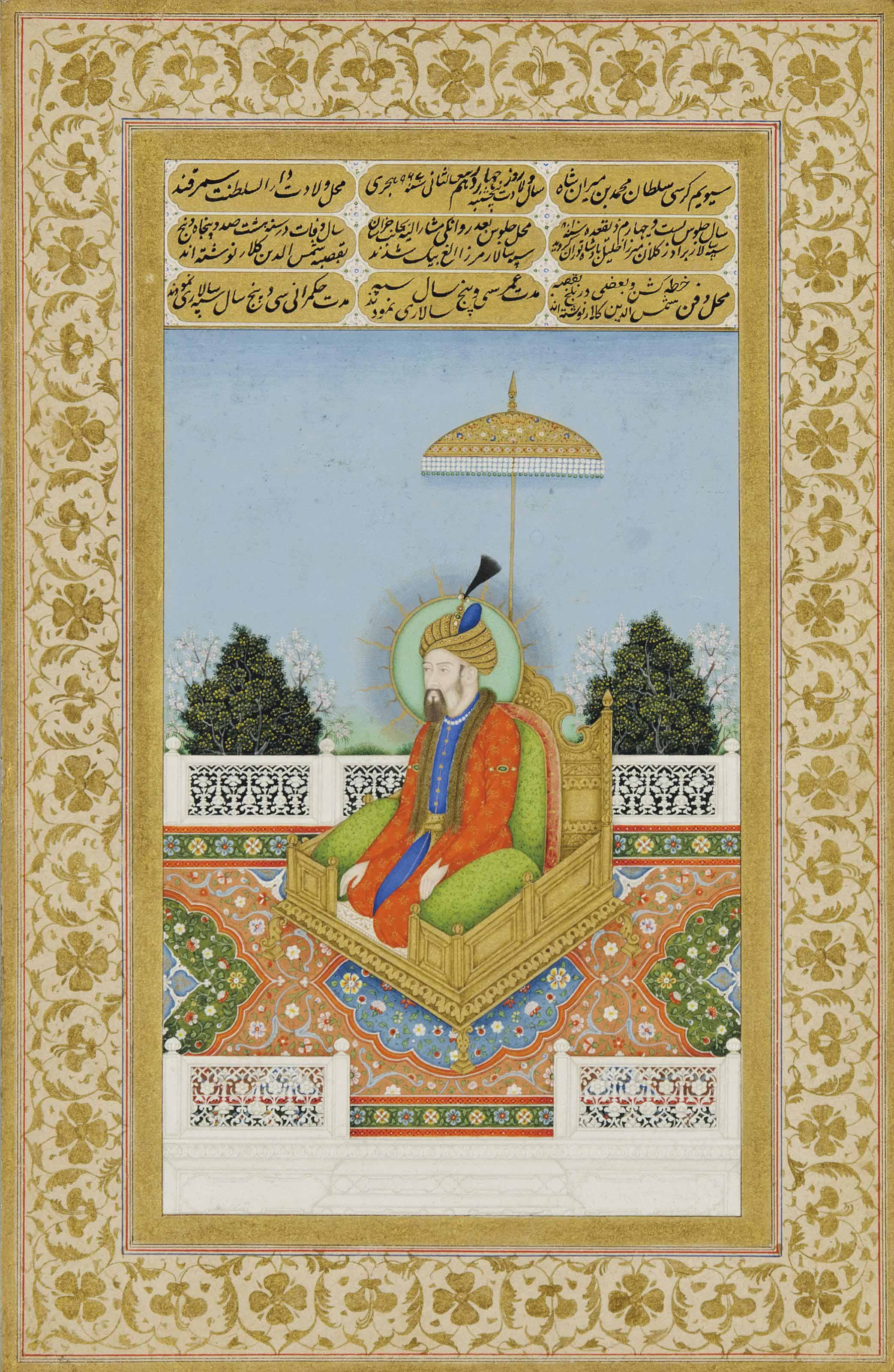 A PORTRAIT OF THE MUGHAL EMPEROR BABUR (R. 1526-30) | DELHI, NORTH ...